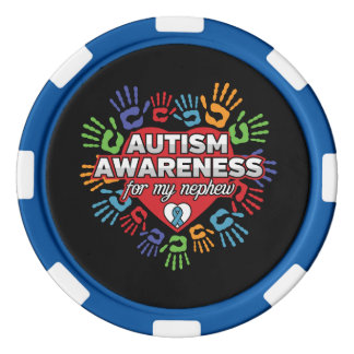 Autism Awareness for my Nephew Poker Chips