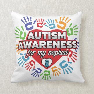Autism Awareness for my Nephew Throw Pillow