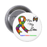 Autism Awareness For My Son Pinback Button
