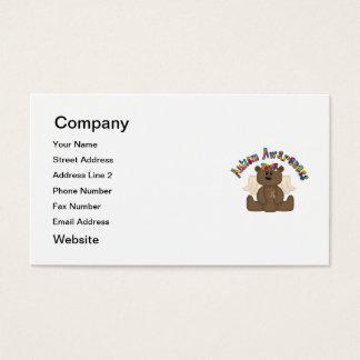 Autism Awareness (girl bear) Business Card