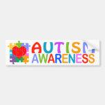 Autism Awareness Heart Bumper Stickers