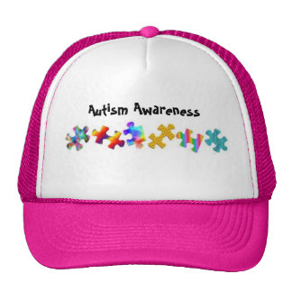 Autism Awareness (Hot Pink/White) Trucker Hat