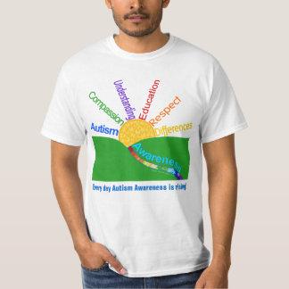 Autism Awareness Is Rising Sun Design T-Shirt