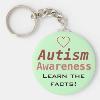 Autism Awareness Basic Round Button Keychain
