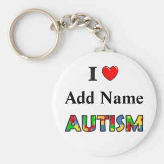 Autism Awareness Keychain I Love Customize