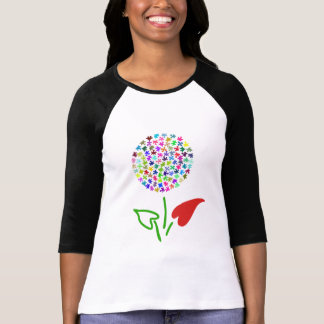 Autism Awareness. Love, Heart, Puzzle Flower T-Shirt