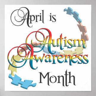 Autism Awareness Month Poster Art