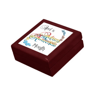 Autism Awareness Month Tile Gift Box