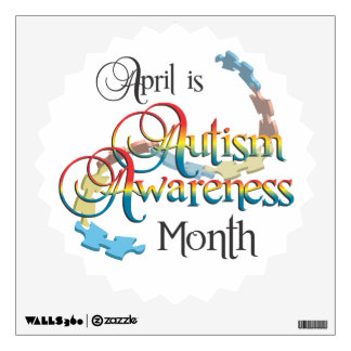 Autism Awareness Month White Starburst Wall Decal