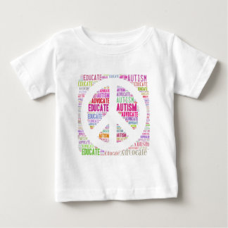 Autism Awareness Peach Products Baby T-Shirt