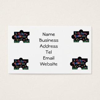 Autism Awareness Pieces Business card