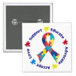 Autism Awareness Pinback Button