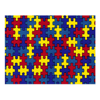 autism awareness postcard