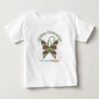 Autism Awareness Puzzle Butterfly Baby T-Shirt