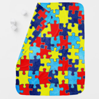 Autism Awareness-Puzzle by Shirley Taylor Baby Blankets