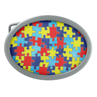Autism Awareness-Puzzle by Shirley Taylor Belt Buckles