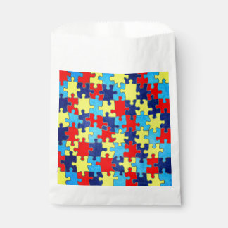Autism Awareness-Puzzle by Shirley Taylor Favour Bag