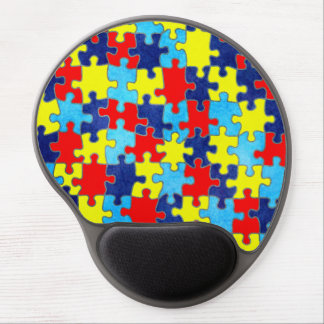 Autism Awareness-Puzzle by Shirley Taylor Gel Mouse Pad