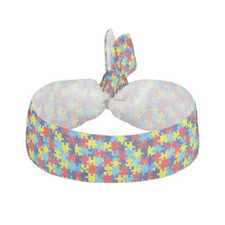 Autism Awareness-Puzzle by Shirley Taylor Hair Tie