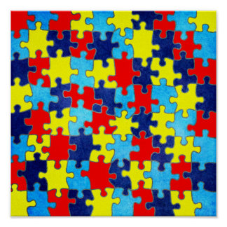 Autism Awareness-Puzzle by Shirley Taylor Poster