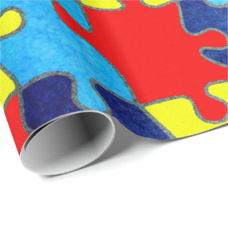 Autism Awareness-Puzzle by Shirley Taylor Wrapping Paper