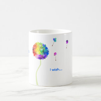 Autism Awareness Puzzle Dandelion Wishes Coffee Mug