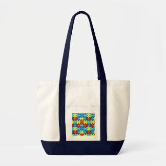 Autism Awareness Puzzle Piece Bag