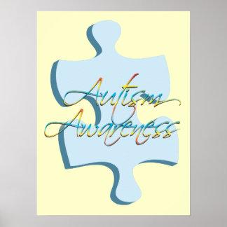 Autism Awareness Puzzle Piece Poster Art