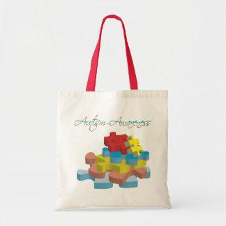 Autism Awareness Puzzle Pieces Bag
