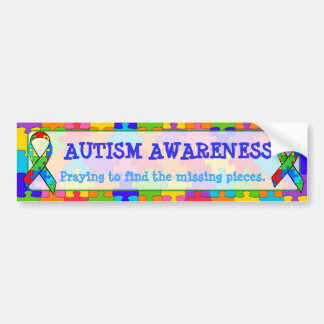 Autism Awareness Puzzle Pieces Bumper Sticker