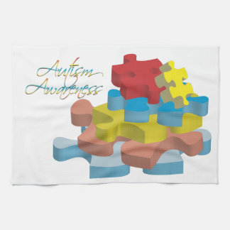 Autism Awareness Puzzle Pieces Kitchen Towel