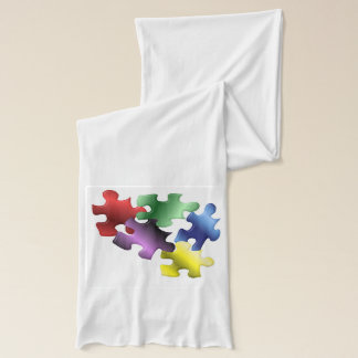 Autism Awareness Puzzle Pieces Scarf
