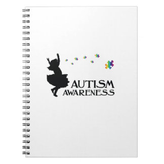 Autism Awareness Puzzle Ribbon Gift Kids Mom Dad Notebook