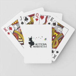 Autism Awareness Puzzle Ribbon Gift Kids Mom Dad Playing Cards