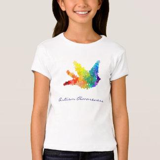 Autism Awareness Rainbow Puzzle Bird T-Shirt