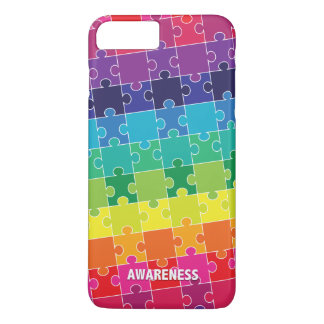 Autism Awareness Rainbow Puzzle Pieces Case-Mate iPhone Case