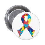 Autism Awareness Ribbon A4 Pins