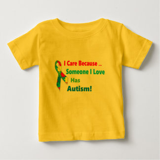 Autism awareness ribbon design baby T-Shirt