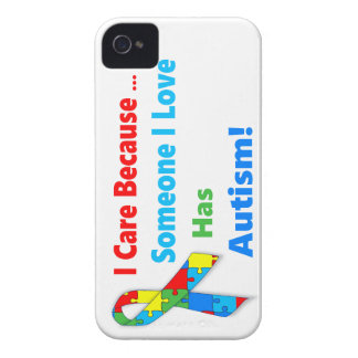 Autism awareness ribbon design iPhone 4 case