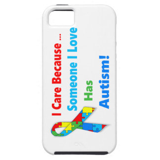 Autism awareness ribbon design iPhone 5 cover