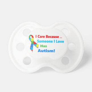 Autism awareness ribbon design pacifier