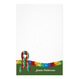 Autism Awareness Ribbon Personal Stationery