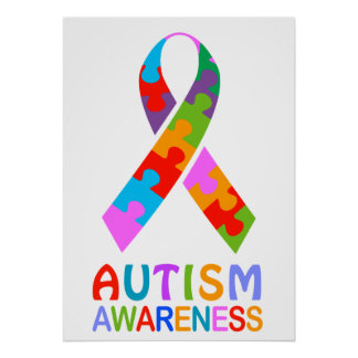 Autism Awareness Ribbon Poster