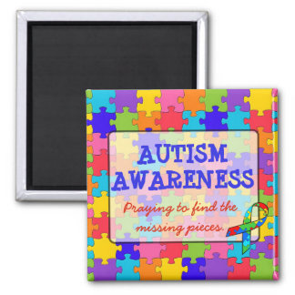 Autism Awareness Ribbons Puzzle Pieces Magnet