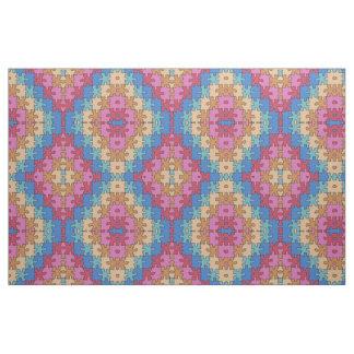 Autism Awareness - Rose Blue - Puzzle Pieces Fabric