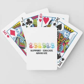 Autism Awareness : Support Educate Advocate Bicycle Playing Cards