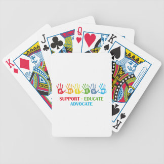 Autism Awareness : Support Educate Advocate Poker Deck