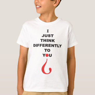 Autism awareness T-Shirt I JUST THINK DIFFERENTLY