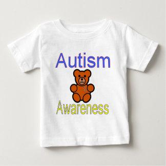 autism awareness teddy bear with ribbon tee shirt