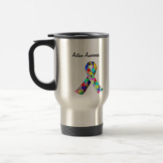 Autism Awareness travel cup. Support Autism Travel Mug
